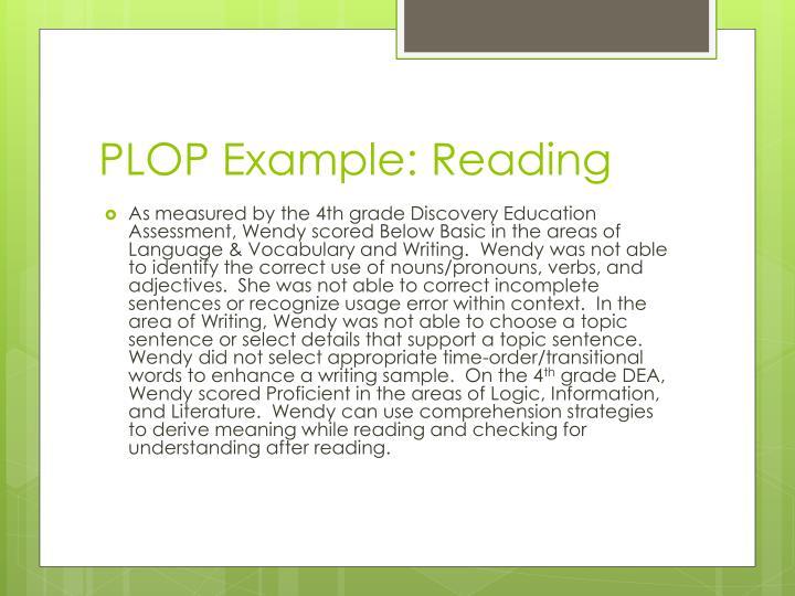 PLOP Example: Reading