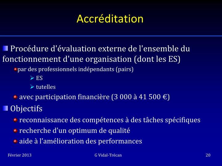 Accréditation