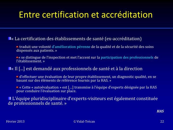 Entre certification et accréditation