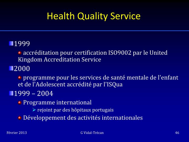 Health Quality Service