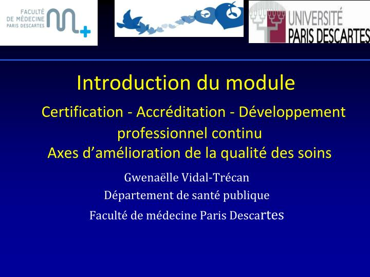 Introduction du module