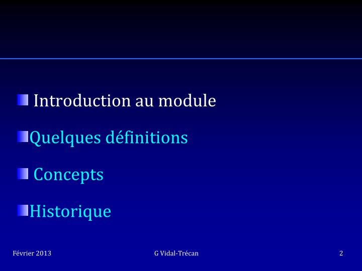Introduction au module