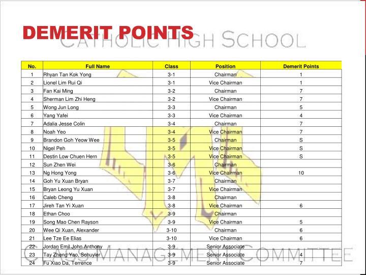 Demerit Points