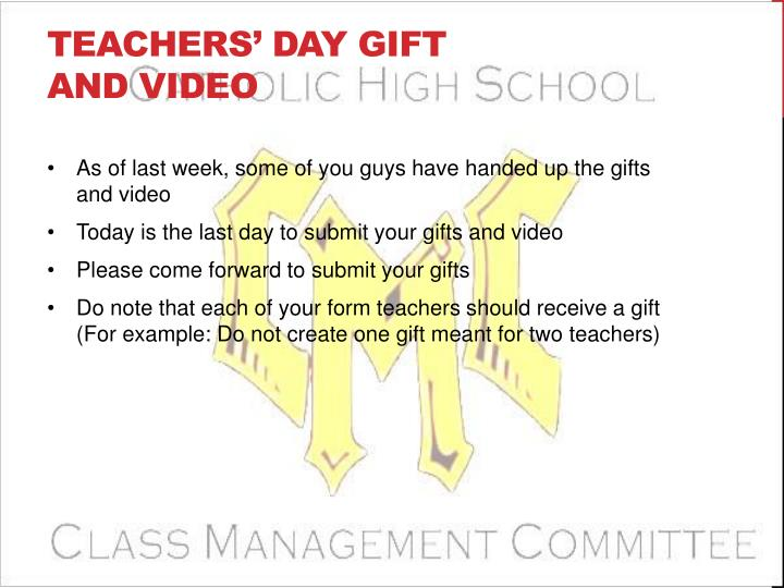 Teachers' Day Gift and Video