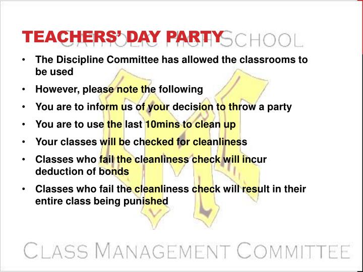Teachers' Day Party