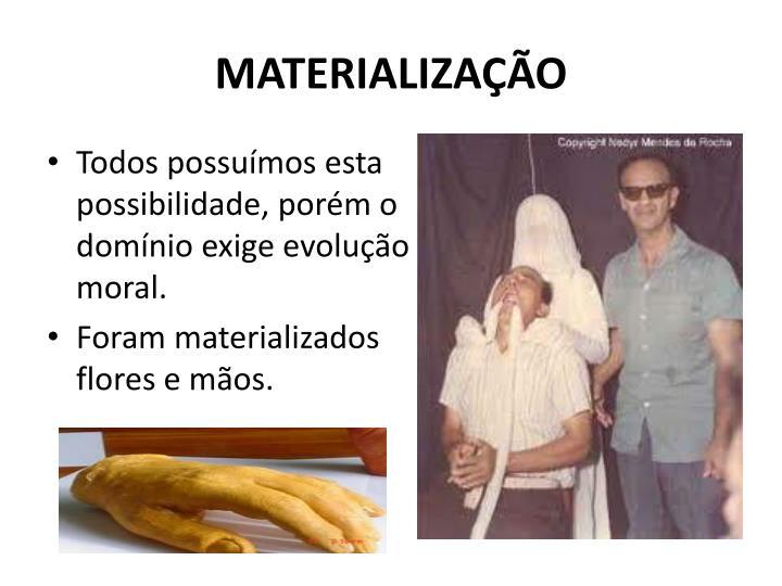 MATERIALIZAÇÃO