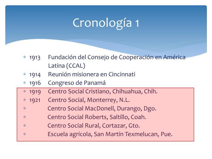 Cronología 1