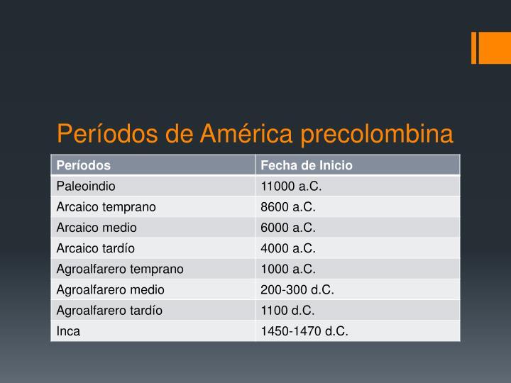 Períodos de América precolombina