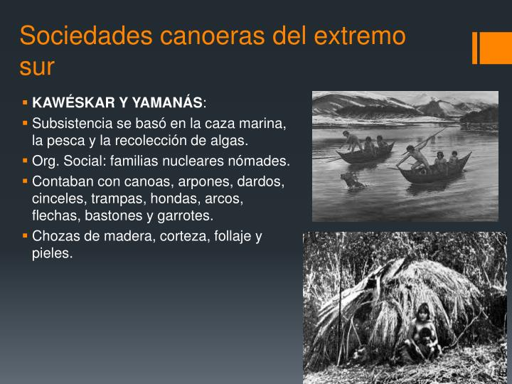 Sociedades canoeras del extremo sur