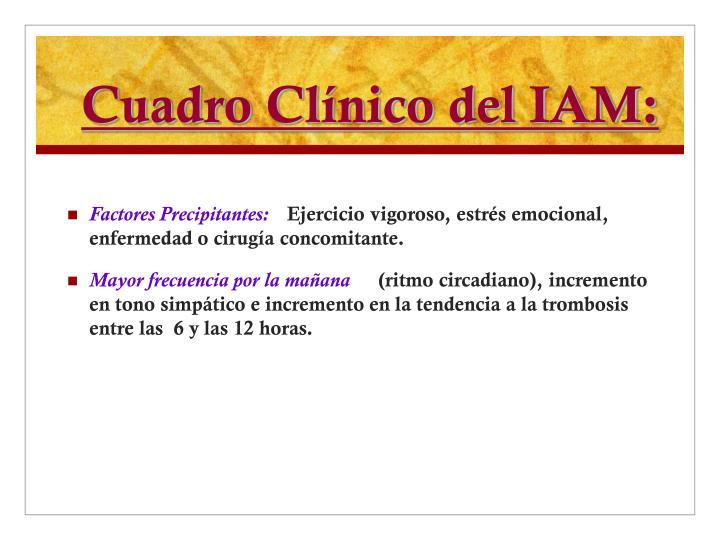 Cuadro Clínico del IAM: