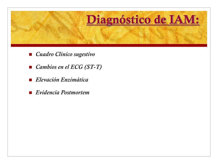 Diagnóstico de IAM: