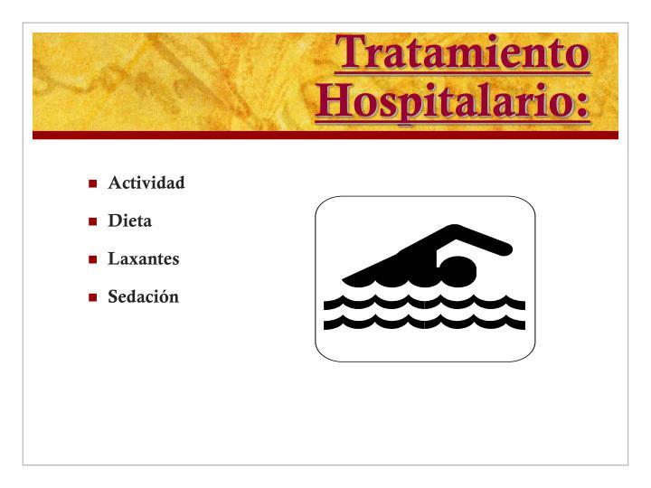 Tratamiento Hospitalario: