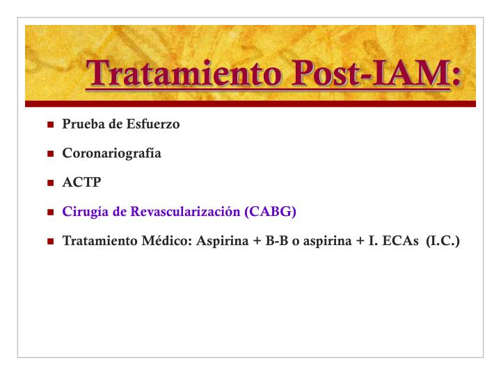 Tratamiento Post-IAM