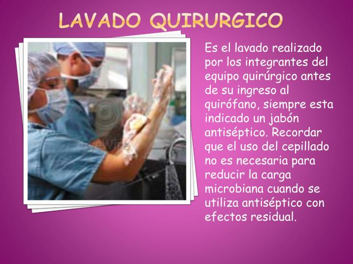 LAVADO QUIRURGICO