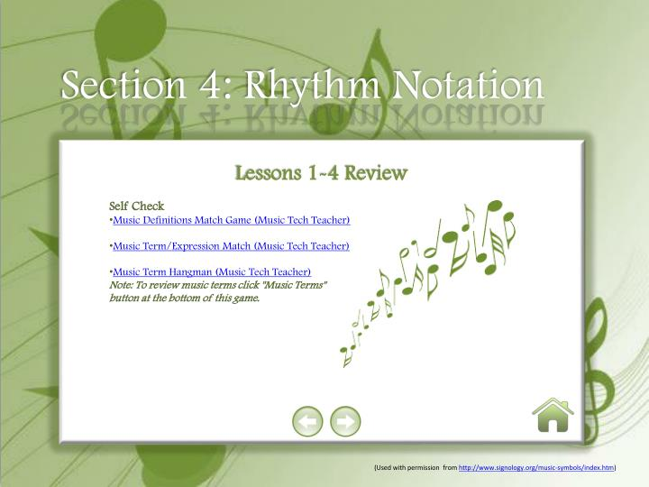 Section 4: Rhythm Notation