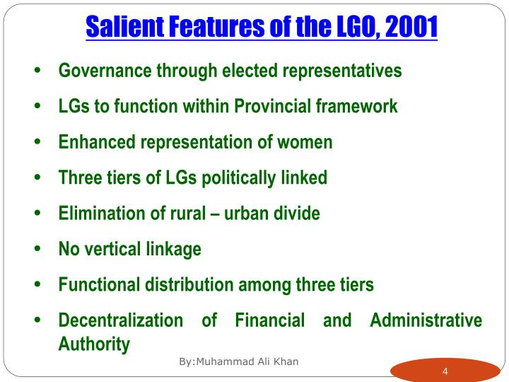Salient Features of the LGO, 2001