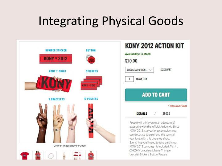 Integrating Physical Goods