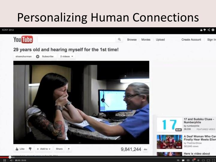 Personalizing Human Connections