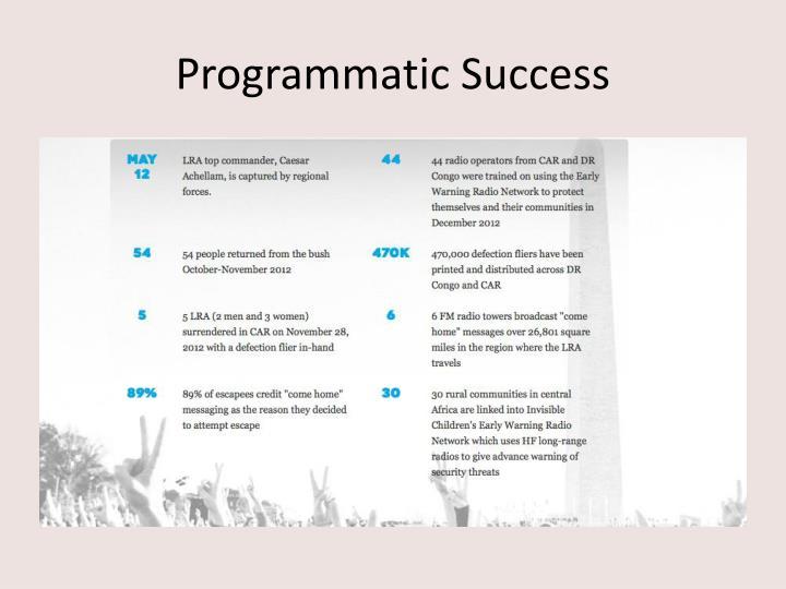Programmatic Success