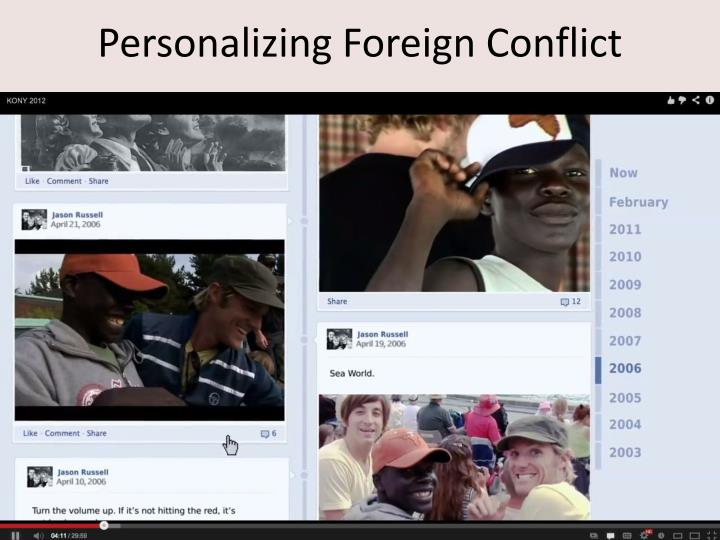 Personalizing Foreign Conflict