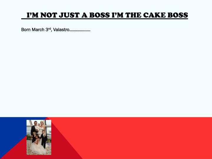I'm not just a boss I'm the cake boss