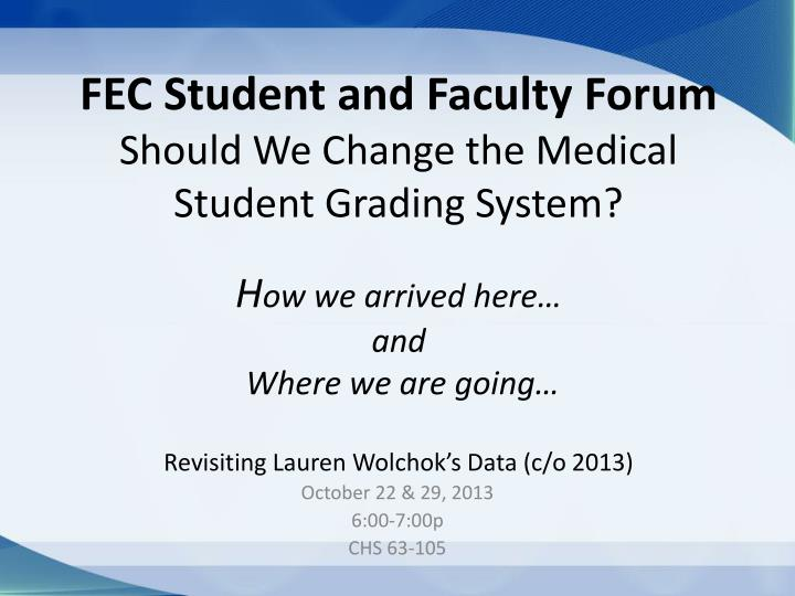 FEC Student and Faculty Forum