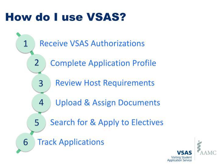 How do I use VSAS?