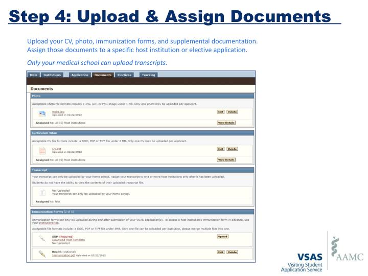 Step 4: Upload & Assign Documents