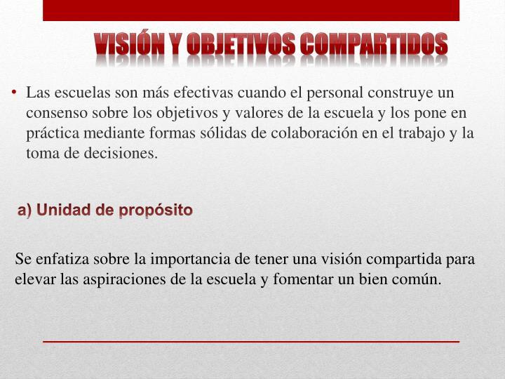 Visión y objetivos compartidos