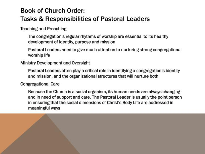 Book of Church Order: