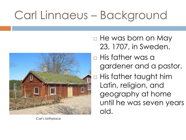 Carl linnaeus background