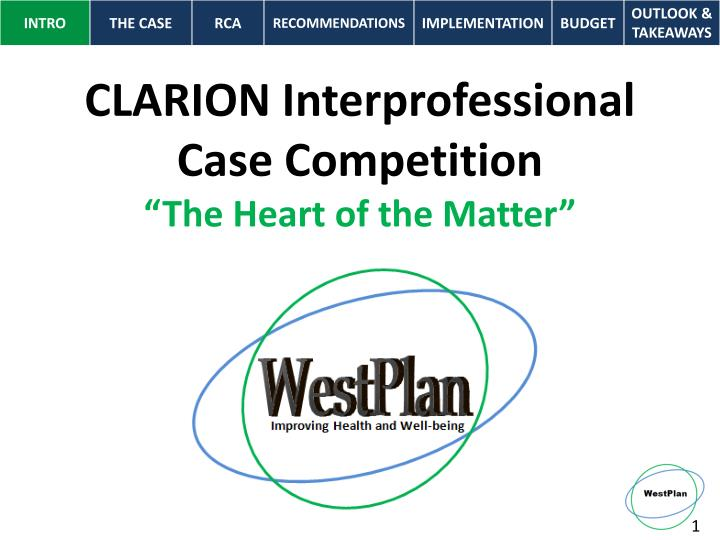 Clarion interprofessional case competition the heart of the matter