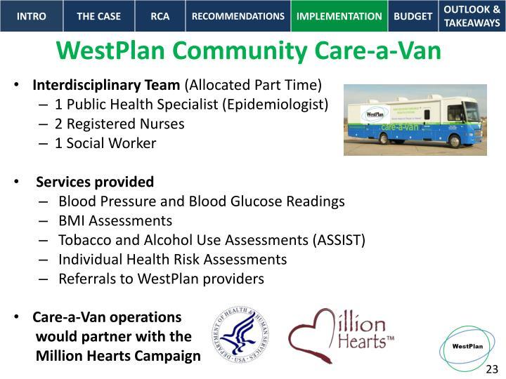 WestPlan Community Care-a-Van