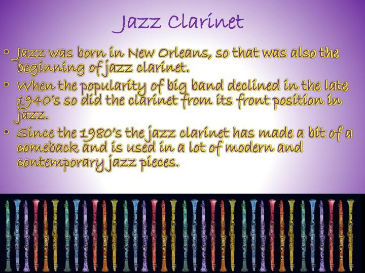 Jazz Clarinet
