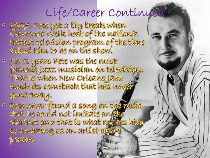 Life/Career Continued