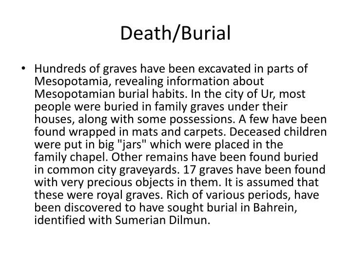 Death/Burial