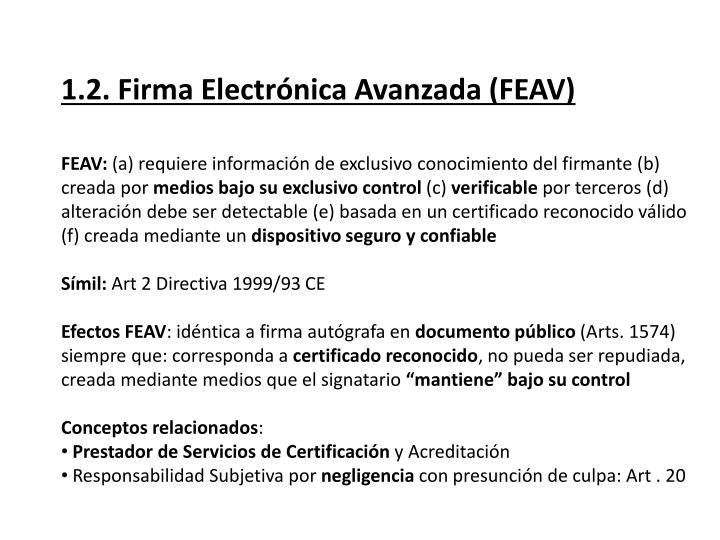 1.2. Firma Electrónica Avanzada (FEAV)