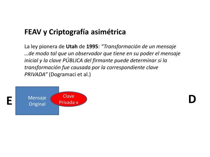 FEAV y Criptografía asimétrica
