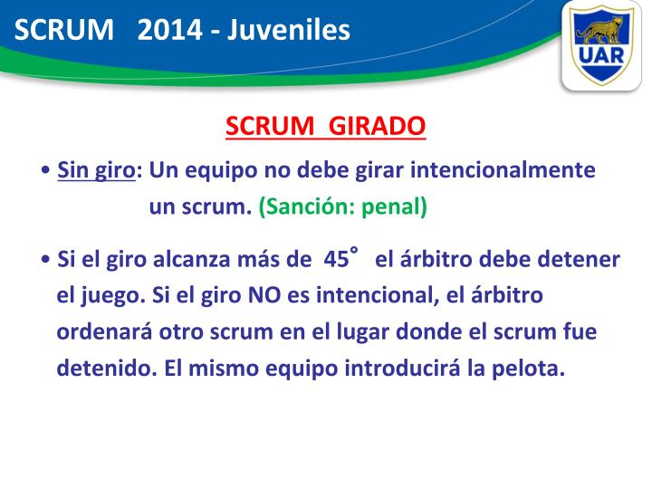 SCRUM   2014 - Juveniles