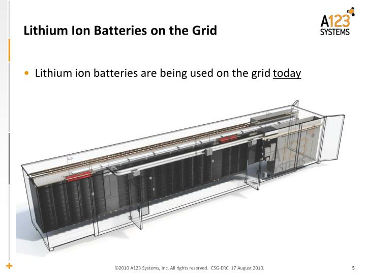 Lithium Ion Batteries on the Grid