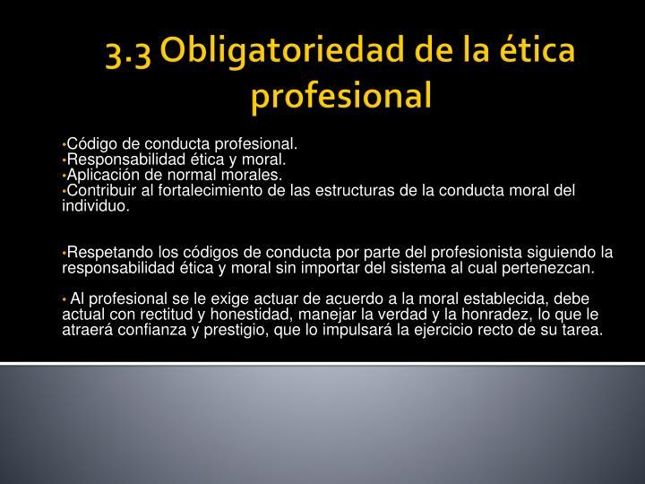 Código de conducta profesional.