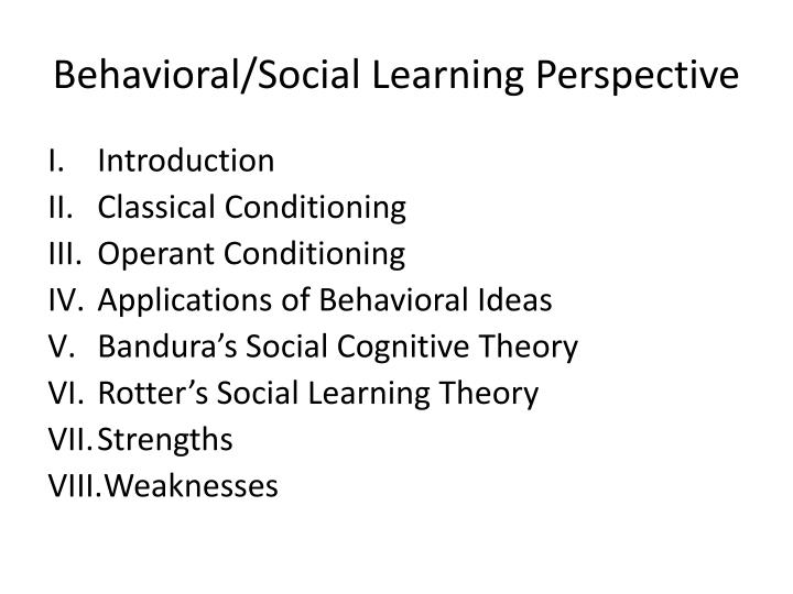 behavioral and social learning Social learning theory and addiction this is called social learning social learning is the most common way that cognitive-behavioral/social learning.