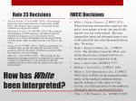 how has w hite been interpreted