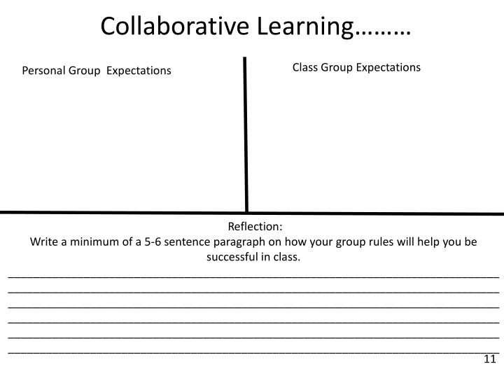 Class Group Expectations