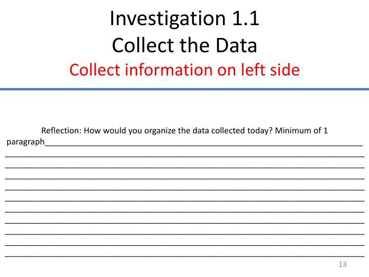 Investigation 1.1