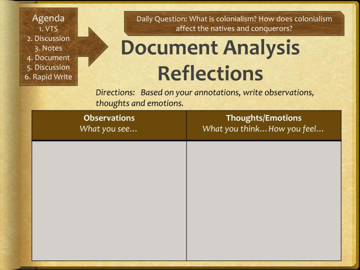 Document Analysis Reflections