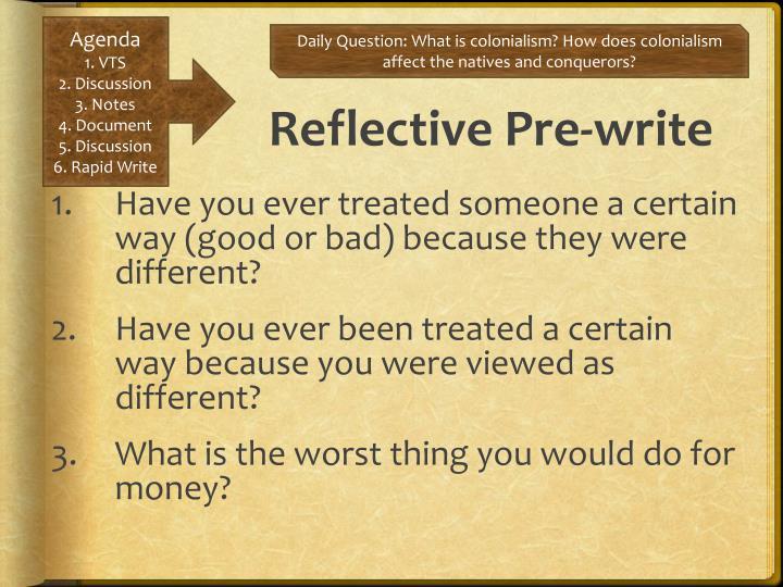 Reflective Pre-write