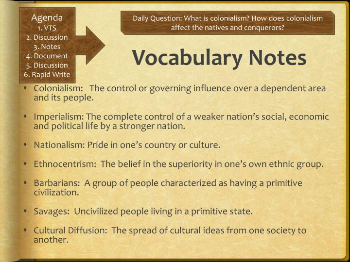 Vocabulary Notes