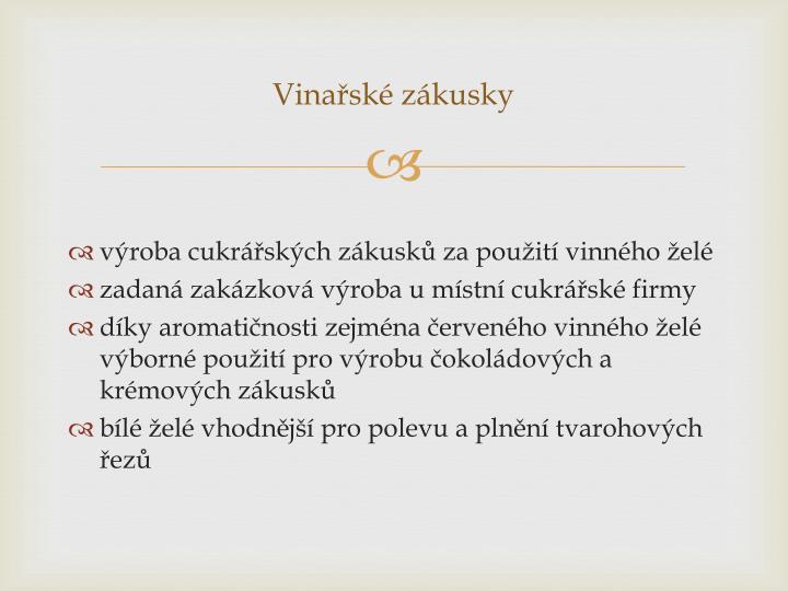 Vinařské
