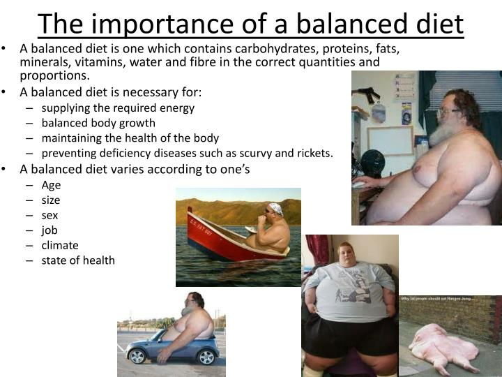 The importance of a balanced diet